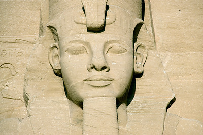 Close-up of Egyptian Pharaoh relief at Abu Simbel - Egypt