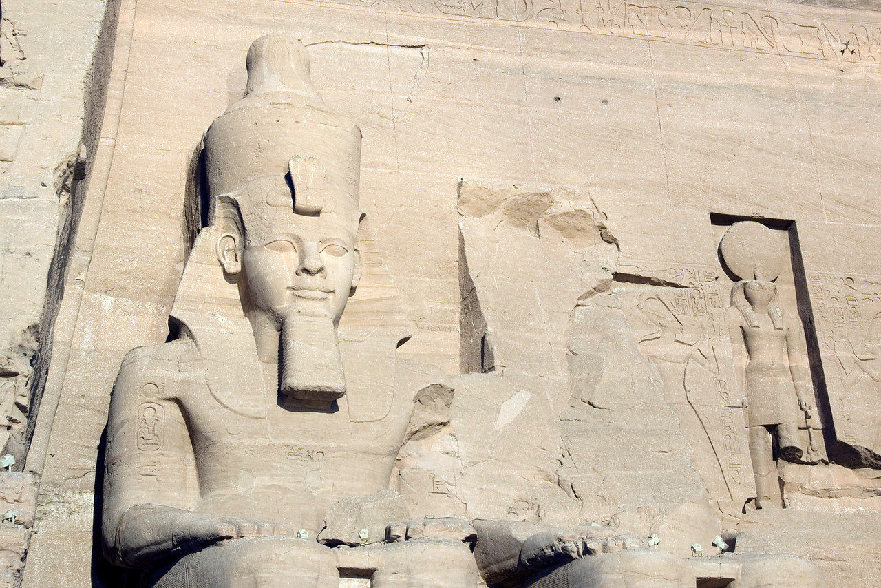 Carvings on rock temple at Abu Simbel, Egypt