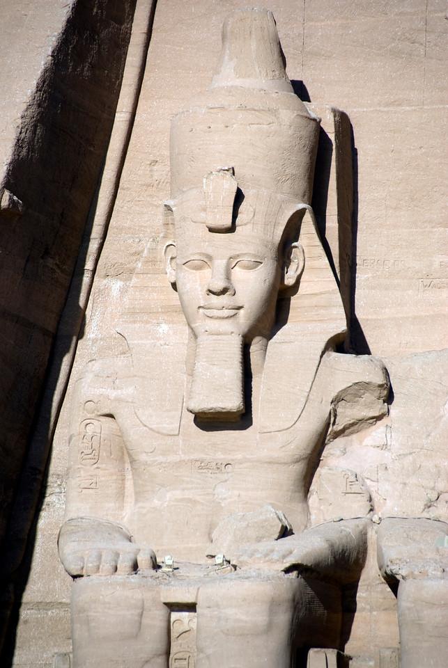 Gigantic relief of Egyptian Pharaoh at Abu Simbel - Egypt