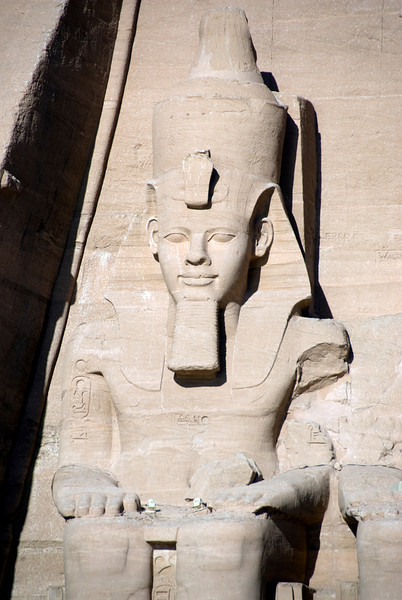 Gigantic relief of Egyptian Pharaoh at Abu Simbel - Egypt
