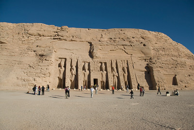 The Abu Simbel facade in Egypt