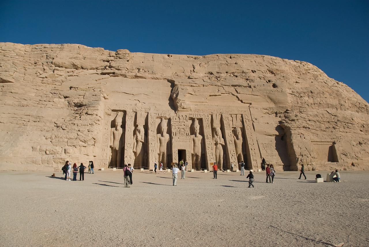 The Abu Simbel facade in Egypt