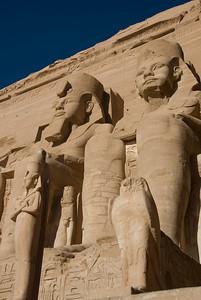 Portrait of Egyptian Pharaoh relief at Abu Simbel - Egypt