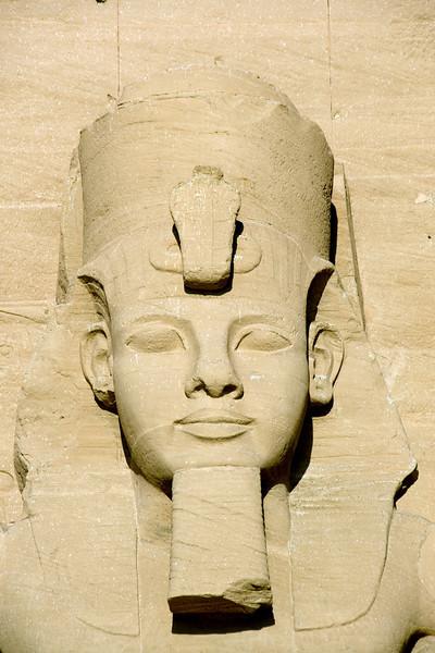 Relief of egyptian pharaoh at Abu Simbel - Egypt