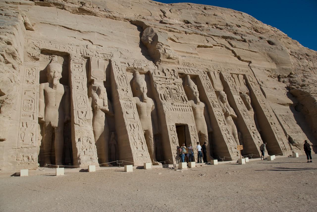 Gigantic carvings of Egyptian Pharaoh at Abu Simbel - Egypt