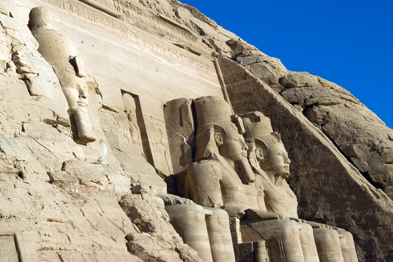 A shot of the relief carvings at Abu Simbel - Egypt