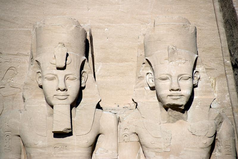 Egyptian Pharaoh relief at Abu Simbel - Egypt
