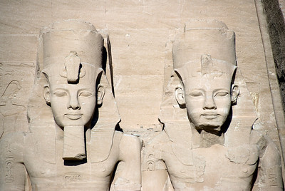 Egyptian Pharaoh relief at Abu Simbel - Egypt