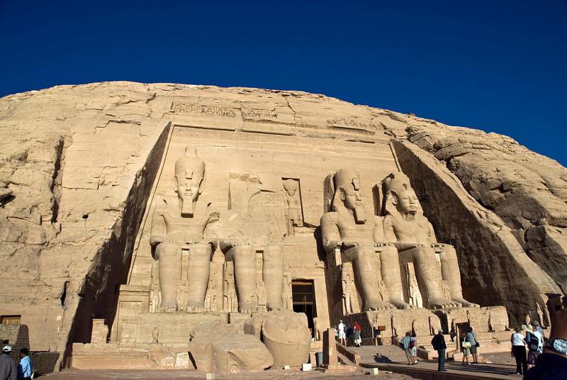 Tourists at the entrance to Abu Simbel - Egypt