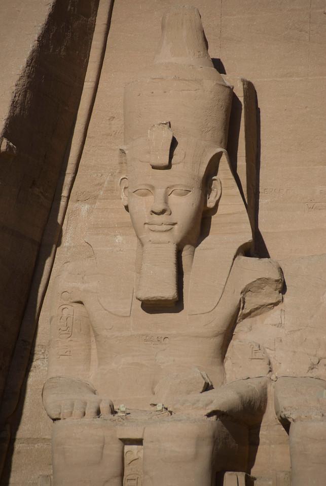 Profile of Egyptian Pharaoh relief at Abu Simbel - Egypt