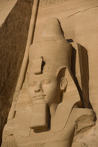 Egyptian Pharaoh relief at the Abu Simbel temple - Egypt