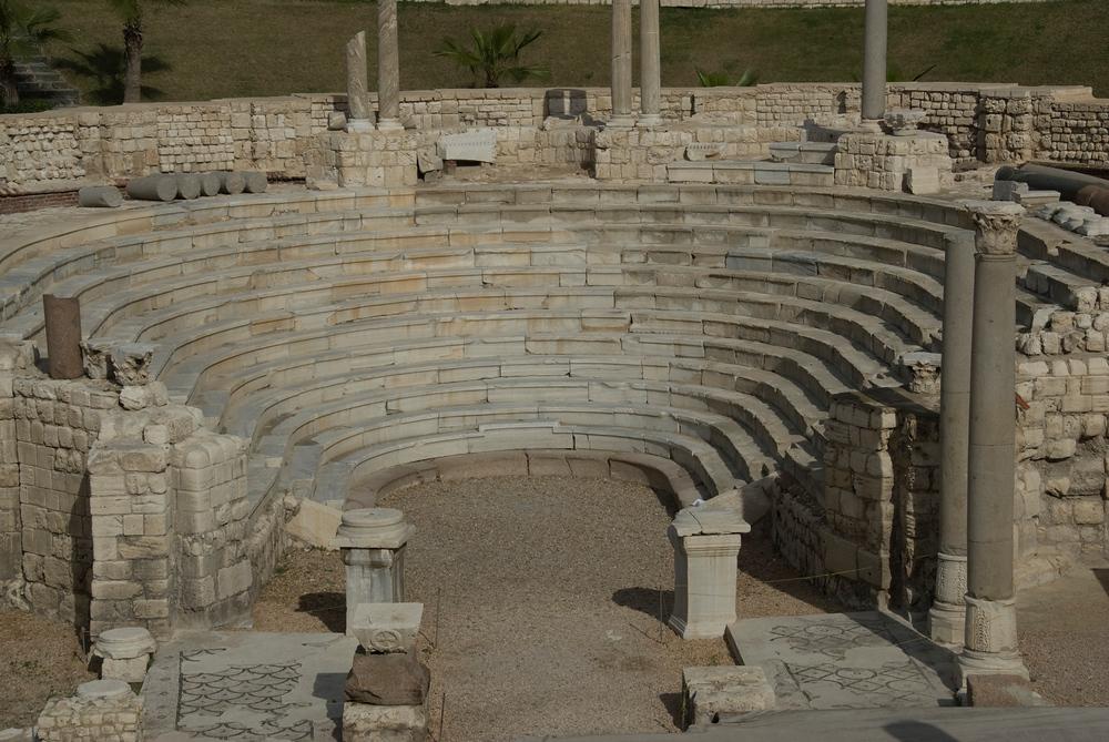 Roman Theater in Alexandria, Egypt