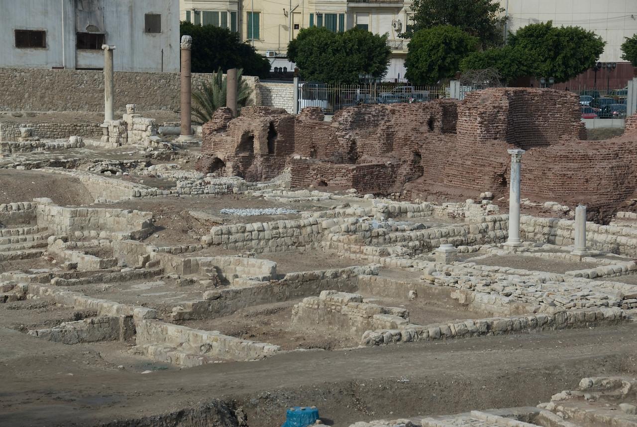 Ruins at the Roman Theater - Alexandria, Egypt