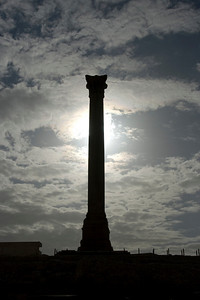 Silhouette of Pompey's Pillar - Alexandria, Egypt