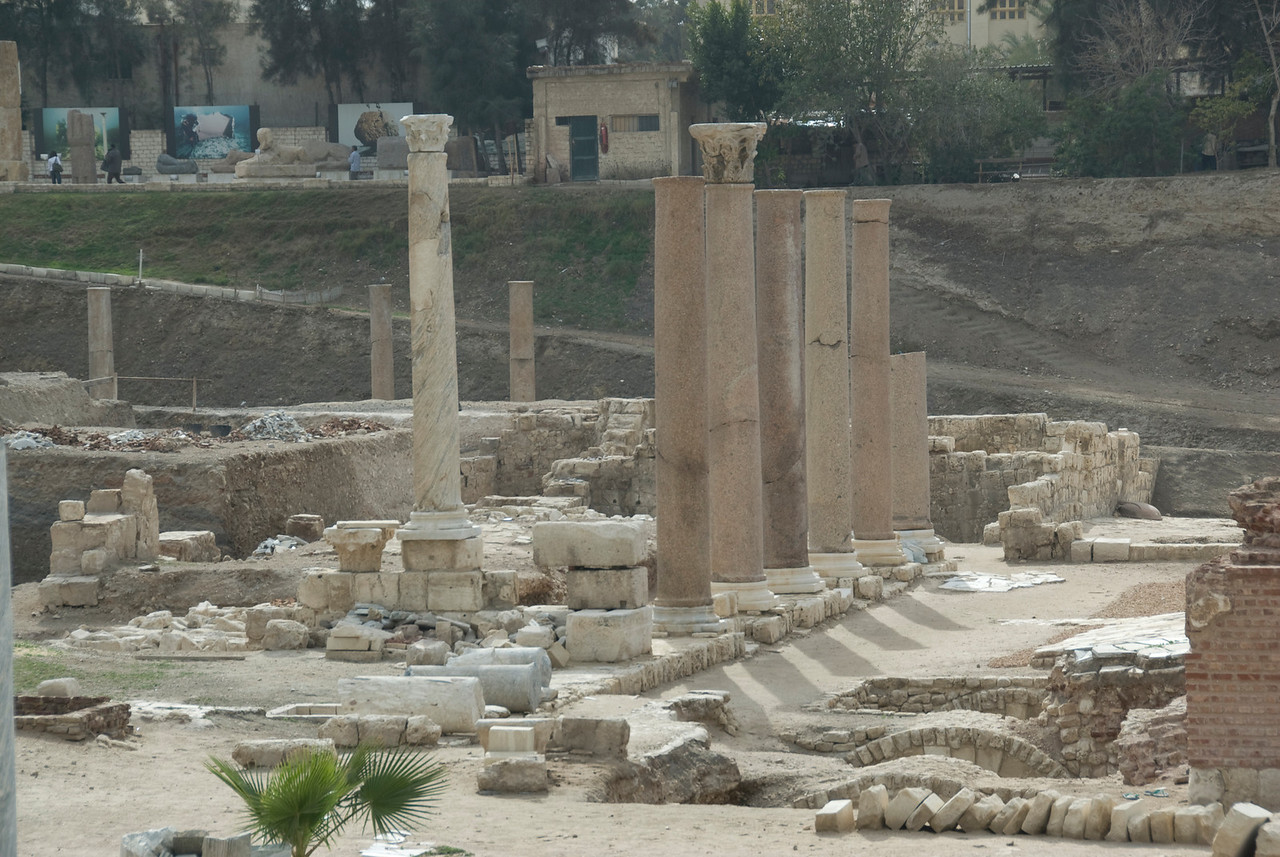 Pillars and ruins at Roman Theater - Alexandria, Egypt