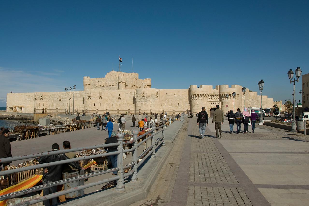 Street scene outside Fort Qataby - Alexandria, Egypt