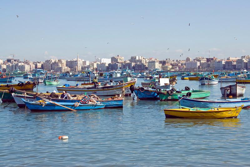 Fishing boats in harbor - Alexandria, Egypt