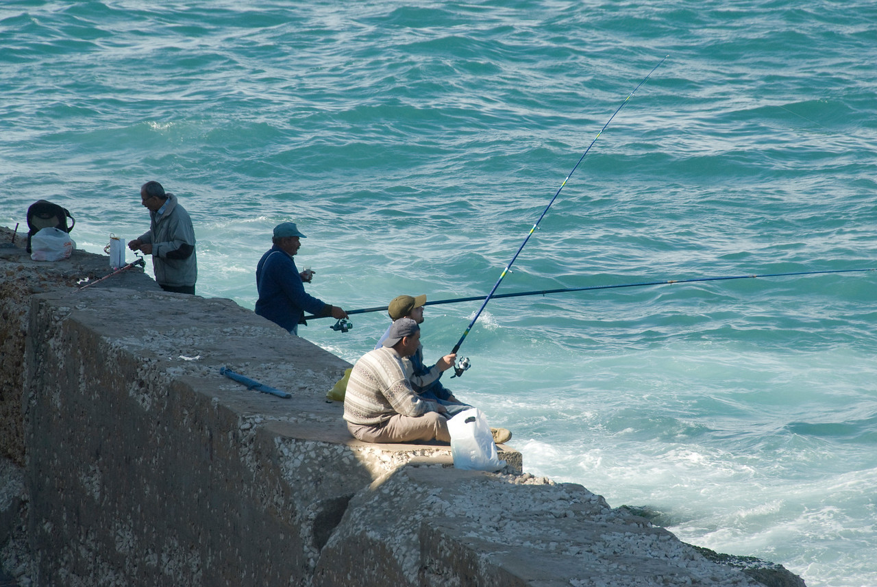 Fishermen at Alexandria, Egypt