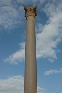 Close-up shot of Pompey's Pillar - Alexandria, Egypt