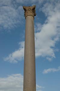 Close-up shot of Pompey's Pillar - Alexandria, Egypt