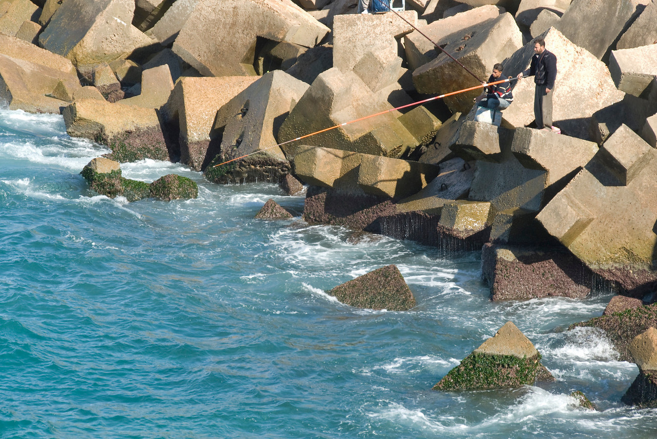 Fishermen spotted at Alexandria, Egypt