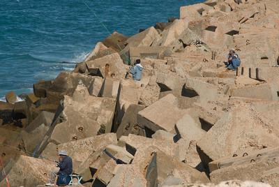 Fishermen spotted in Alexandria, Egypt