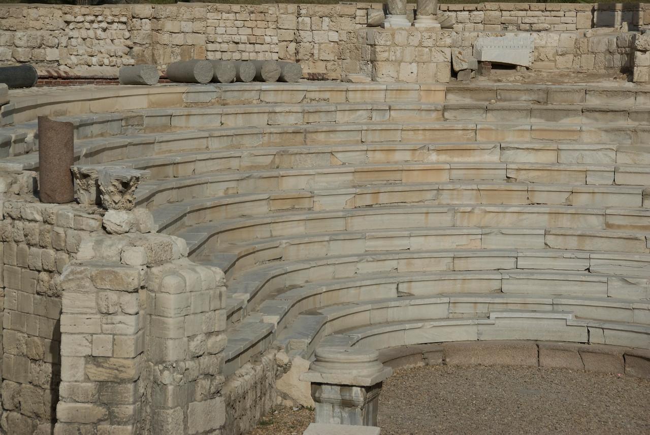 The balcony stairs at Roman Theater - Alexandria, Egypt