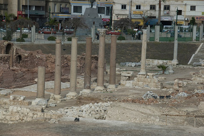 Ruins of the pillars at Roman Theater - Alexandria, Egypt