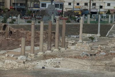 Ruins of the pillars at Roman Theater - Alexandria, Egypt