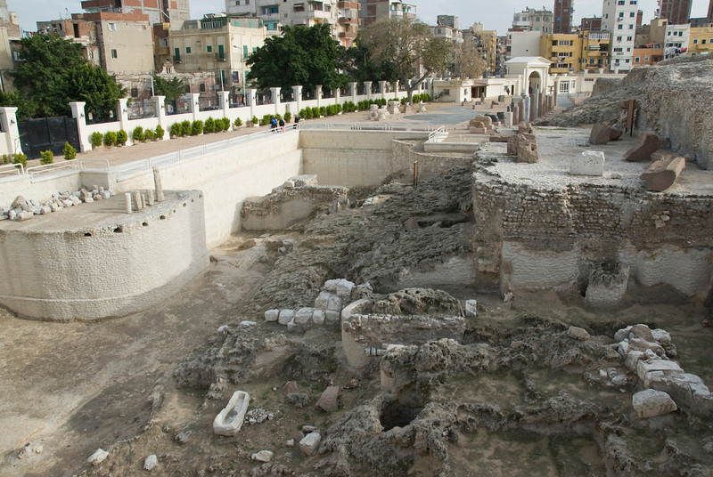 Ruins near the Pompey's Pillar - Alexandria, Egypt