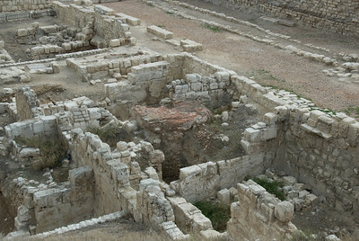 Shot of the ruins in Roman Theater - Alexandria, Egypt