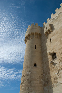 Turret at Fort Qataby against clear sky - Alexandria, Egypt