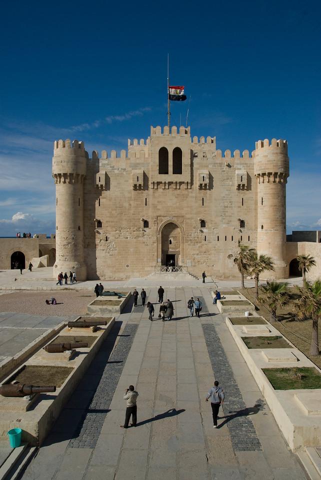Path to Fort Qataby entrance - Alexandria, Egypt