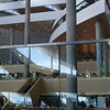 A view inside the Bibliotheca Alexandrina (Library of Alexandria).