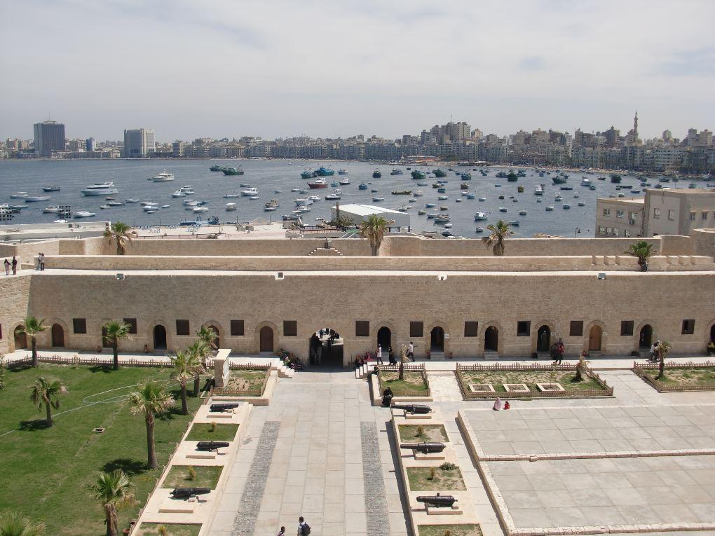 view of alexandria egypt coast