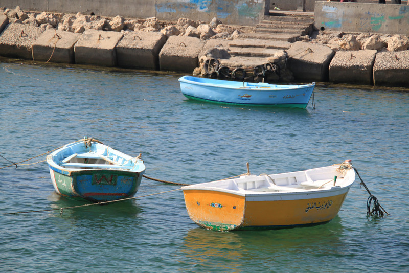 boats near Qait Bay Fortress