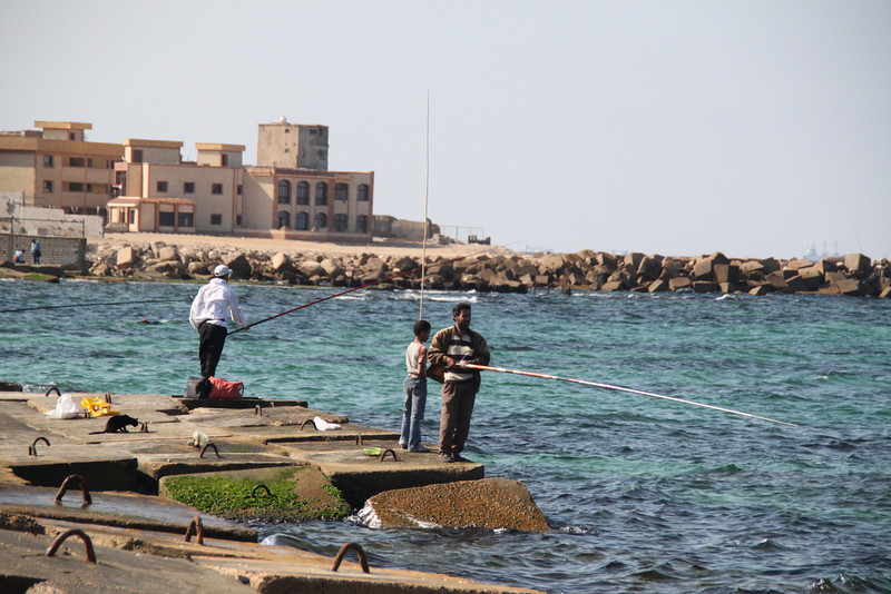 fishing near Qait Bay Fortress