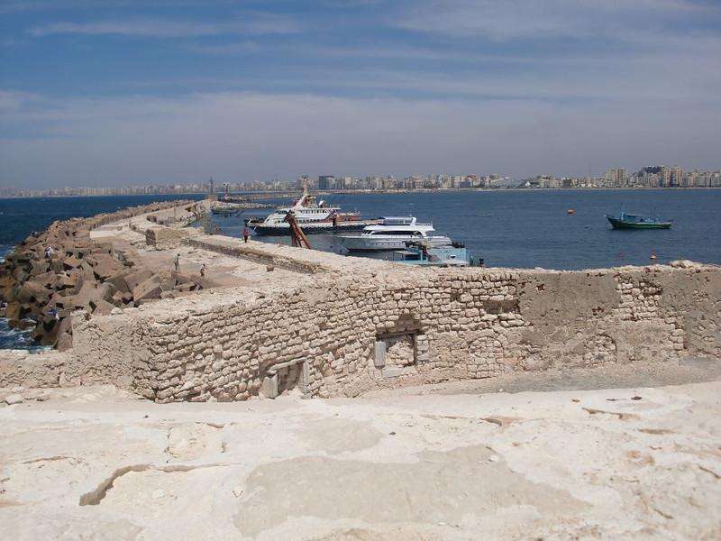 Alexandria's coast from the Citadel of Qaitbay.