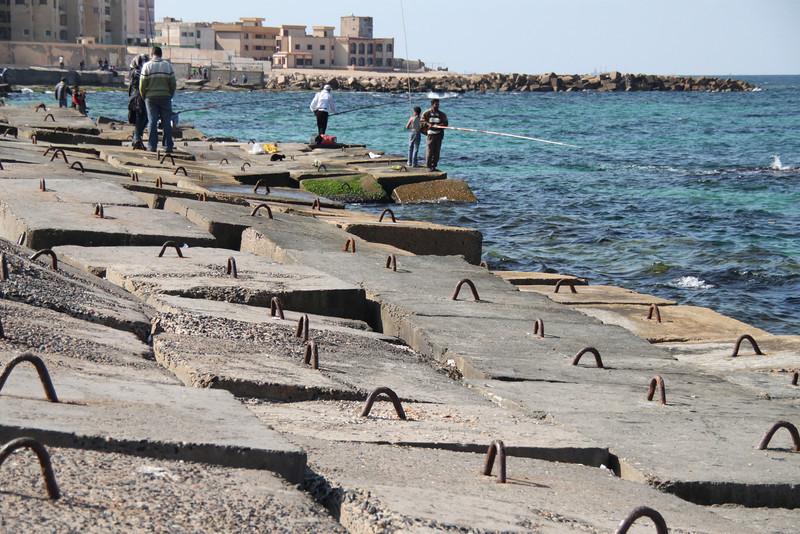 fishing near Qait Bay Fortress