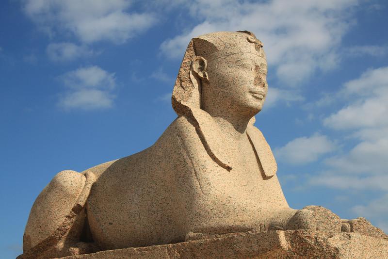 Sphinx at Pompey's Pillar