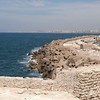 Alexandria's coast from the Citadel of Qaitbay.