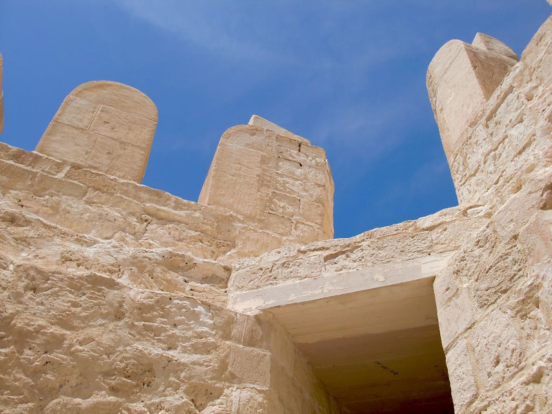 An exterior wall of the Citadel of Qaitbay.