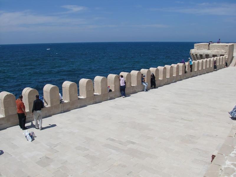 An exterior wall of the Citadel of Qaitbay.