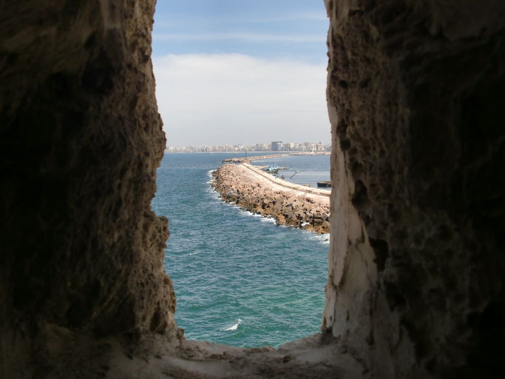 citadel of qaitbay view of alexandria
