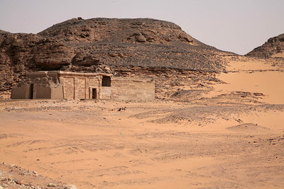 The temple of Amada, originally located about 112 miles south of the Aswan High Dam, was moved, as a single unit, one and one-half miles to New Amada. It is the oldest of the Nubian temples, dating from the New Kingdom rulers Tuthmosis III and Amenhotep II, with additions by Tuthmosis IV. Then Seti I and Ramesses II did repairs and minor additions.
