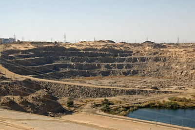 Ongoing construction at Aswan High Dam, Egypt