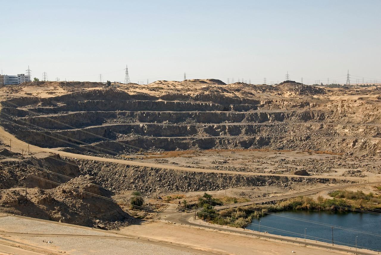 Ongoing construction at Aswan High Dam, Egypt