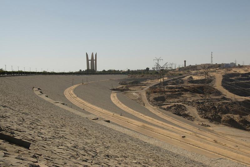 Dam structure at Aswan High Dam, Egypt