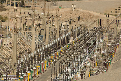 Electrical infrastructure near Aswan High Dam, Egypt