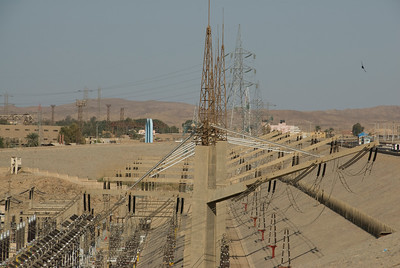 Electrical Infrastructure near the Aswan High Dam, Egypt